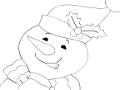 Omaľovánka sviatočný snehuliak