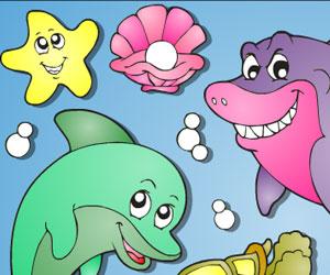 Sea Animals Online Coloring Game « Omaľovánky Pre Deti ...